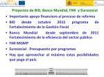 proyectos de bid banco mundial fmi y eurosocial