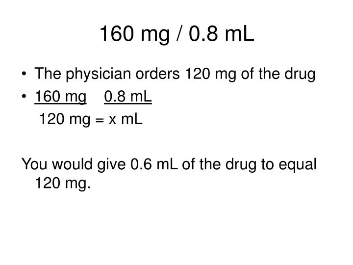 160 mg / 0.8 mL