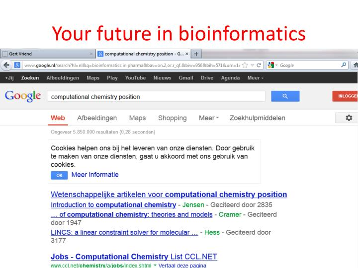 Your future in bioinformatics