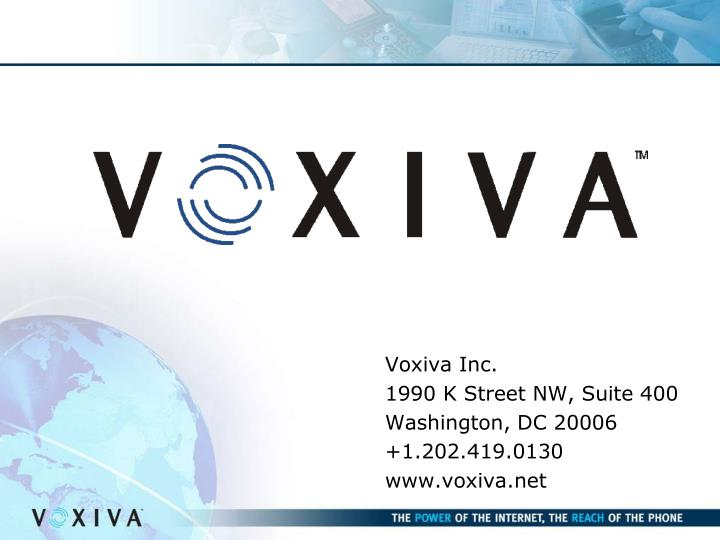 Voxiva Inc.