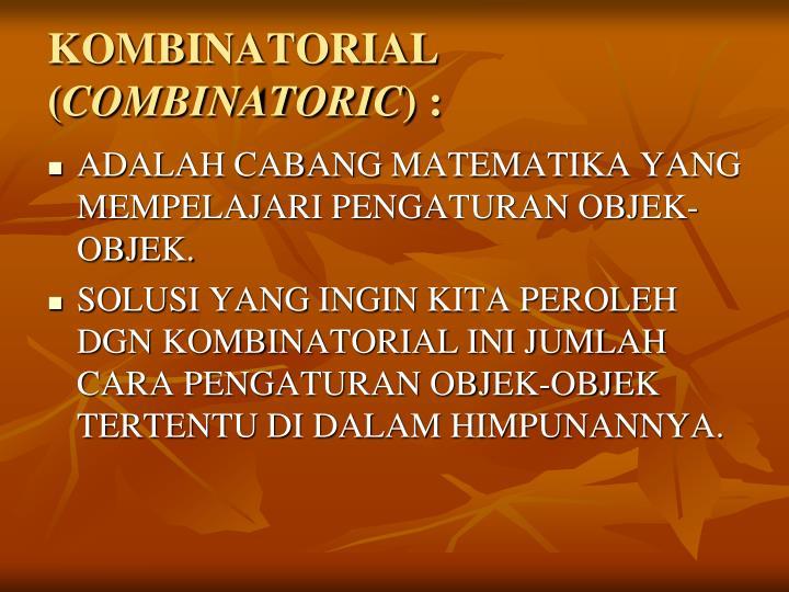KOMBINATORIAL (