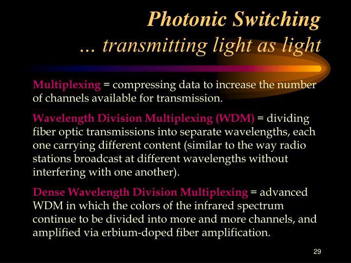 Photonic Switching