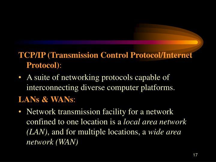 TCP/IP (Transmission Control Protocol/Internet Protocol)