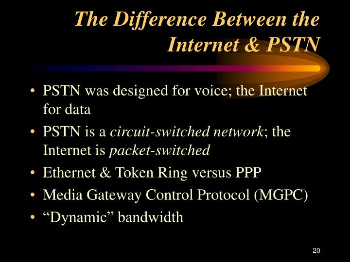The Difference Between the Internet & PSTN