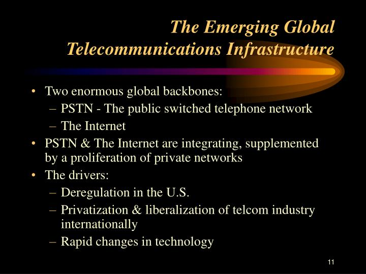 The Emerging Global Telecommunications Infrastructure