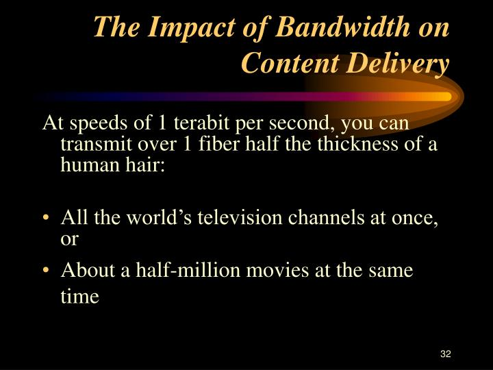 The Impact of Bandwidth on Content Delivery