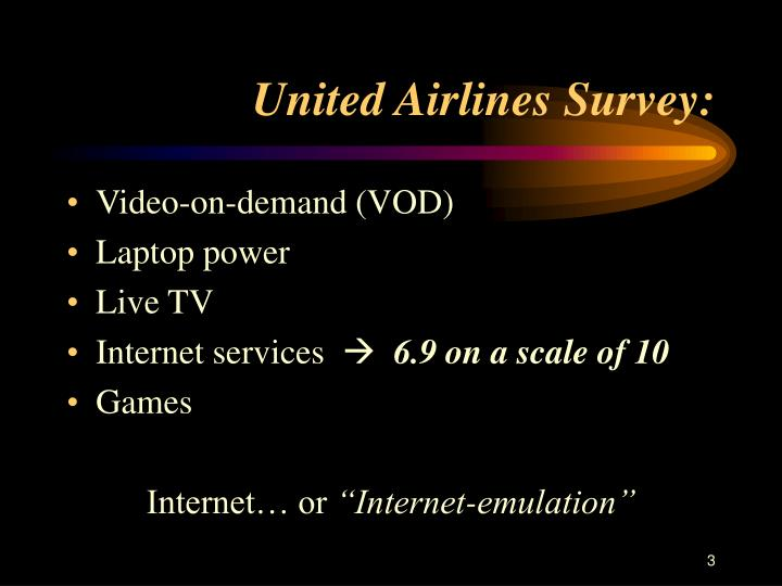 United airlines survey
