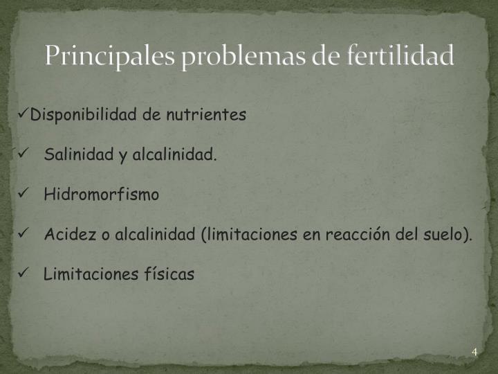 Principales problemas de fertilidad