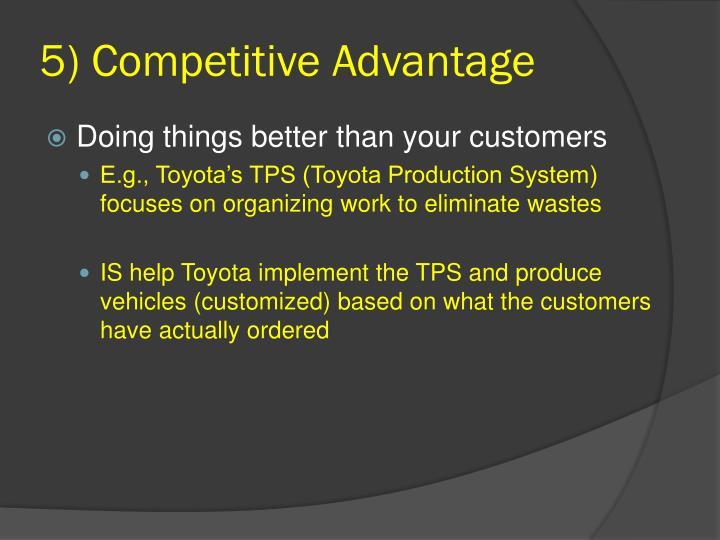 5) Competitive Advantage