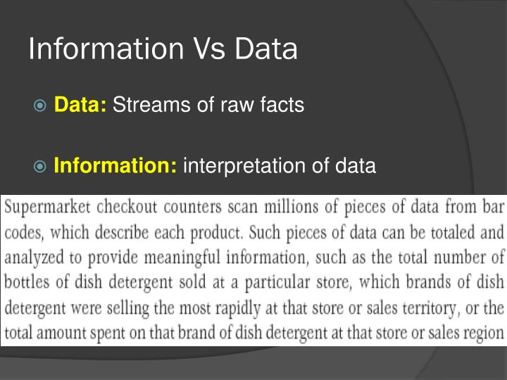 Information Vs Data
