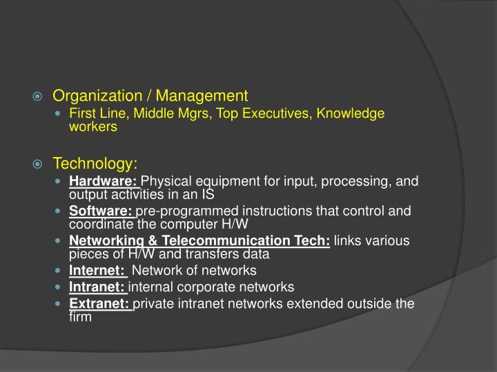 Organization / Management