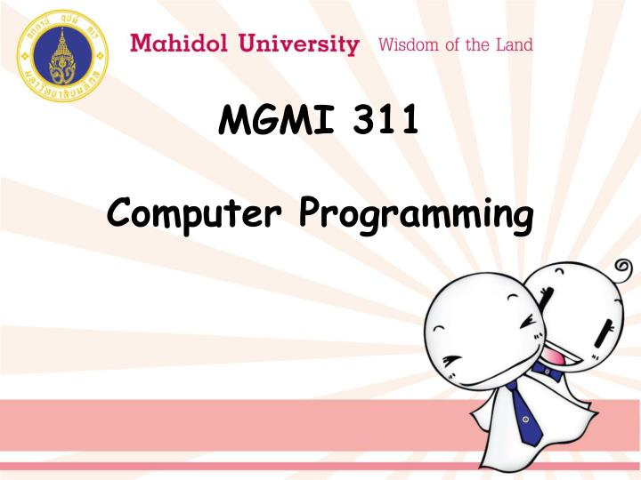 MGMI 311