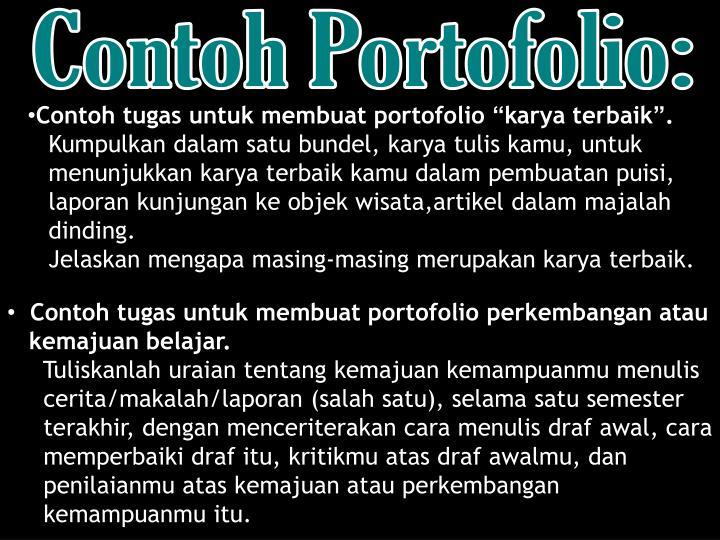 Contoh Portofolio:
