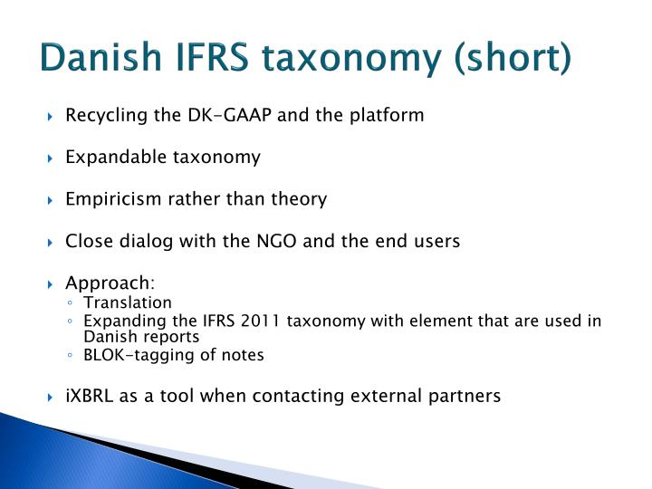 Danish IFRS taxonomy (short)