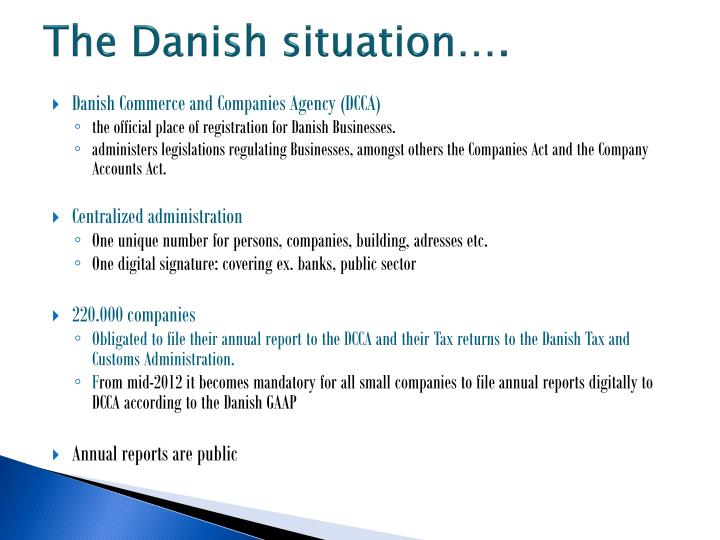 The Danish situation….