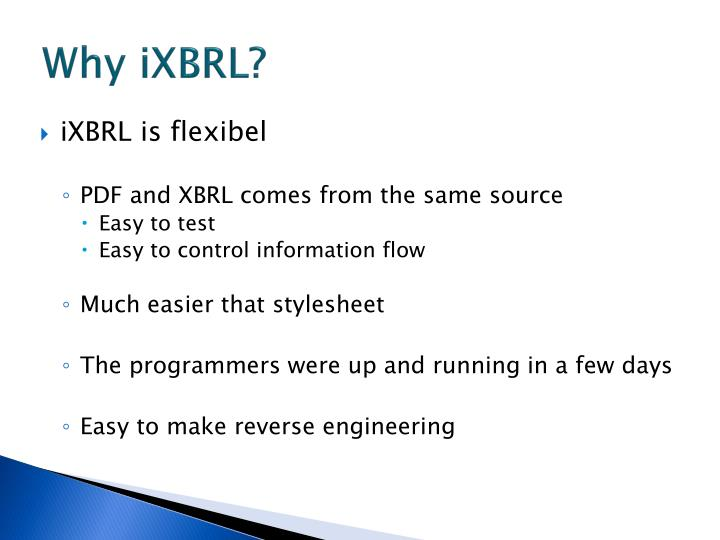 Why iXBRL?