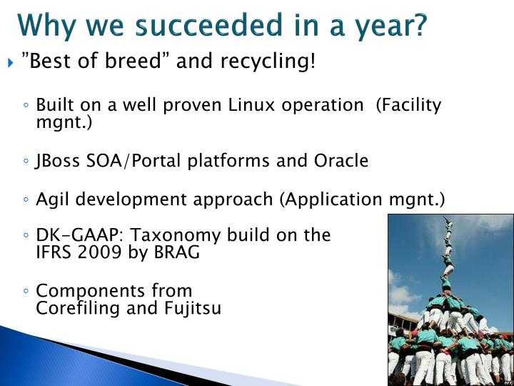 Why we succeeded in a year?