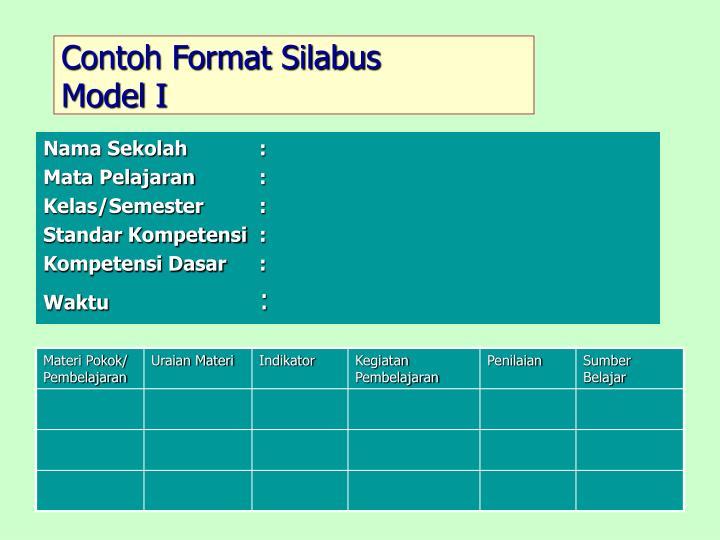 Contoh Format Silabus