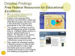 detailed findings free federal resources for educational excellence