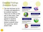 detailed findings grammar bytes1