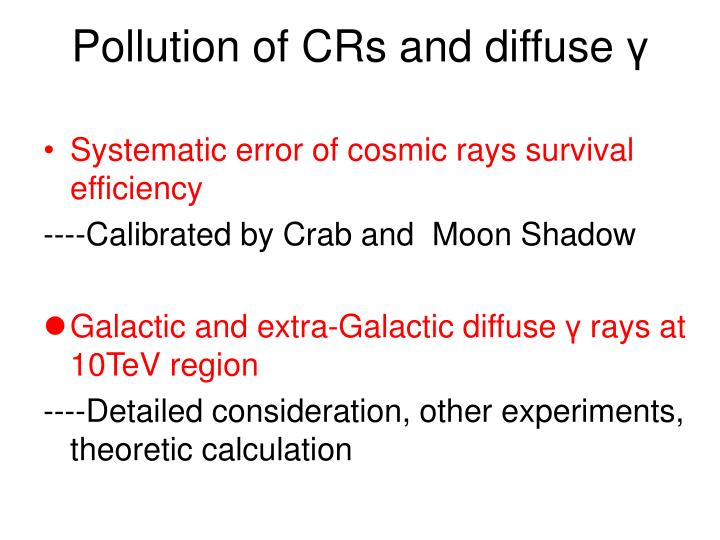 Pollution of CRs and diffuse