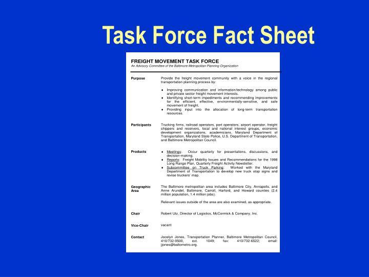 Task Force Fact Sheet