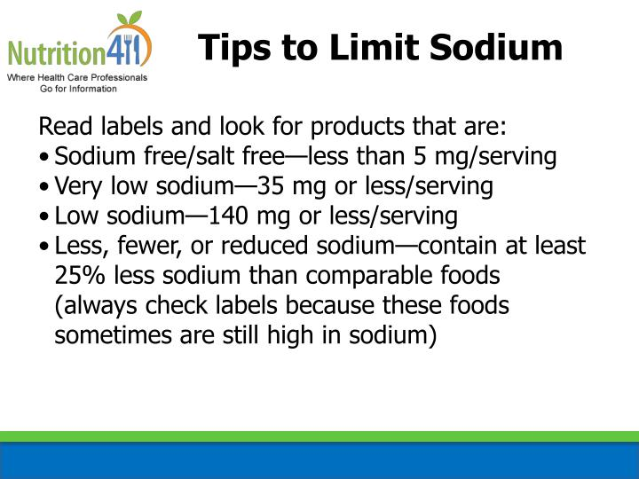 Tips to Limit Sodium