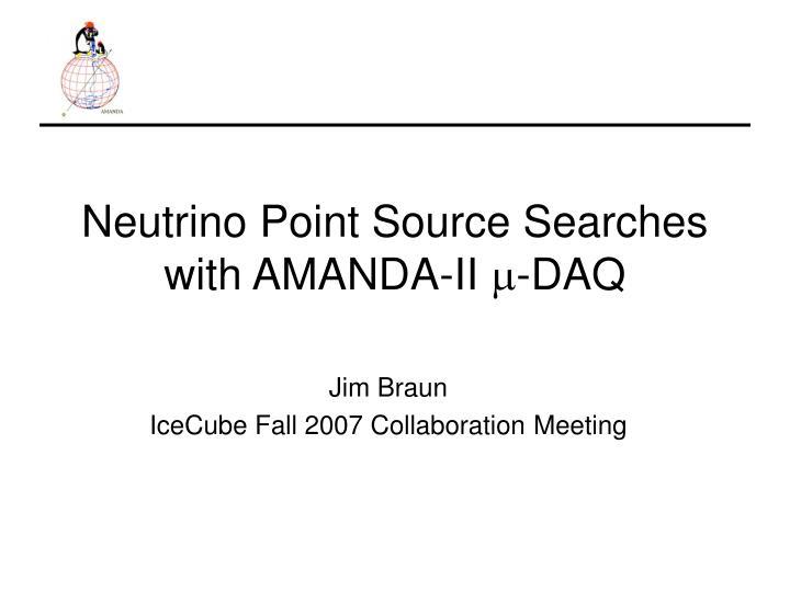 Neutrino point source searches with amanda ii m daq