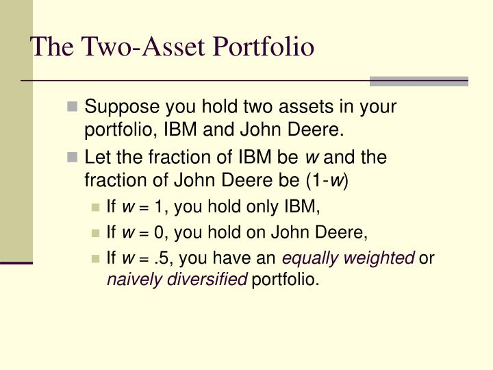 The Two-Asset Portfolio