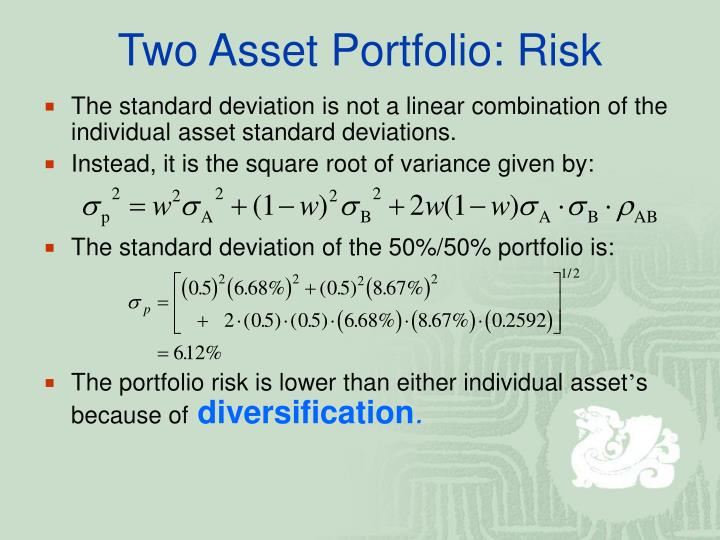 Two Asset Portfolio: Risk