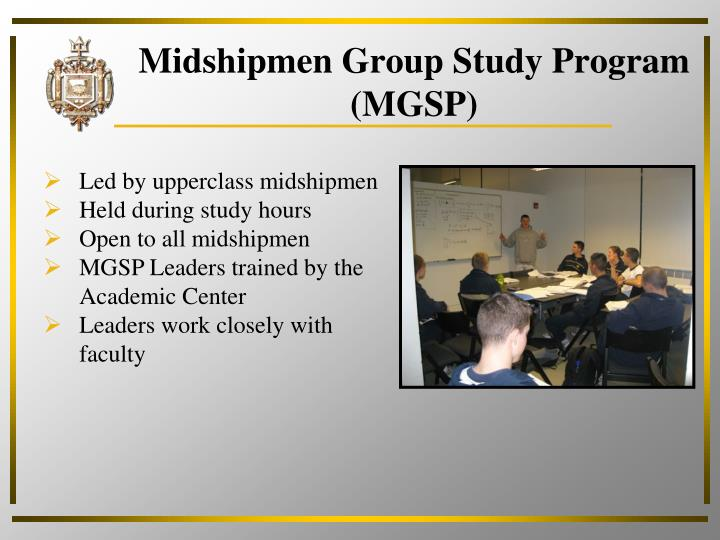 Midshipmen Group Study Program (MGSP)