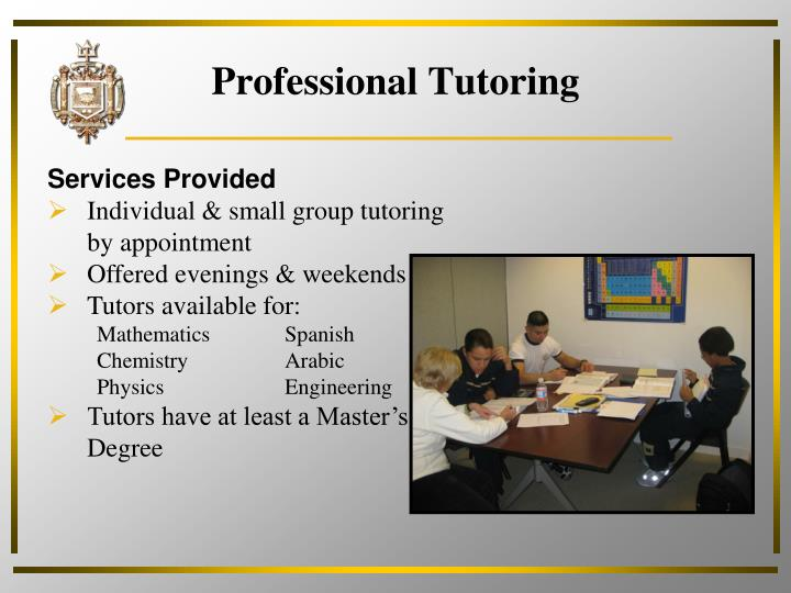 Professional Tutoring