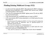 finding joining multicast group 3 12