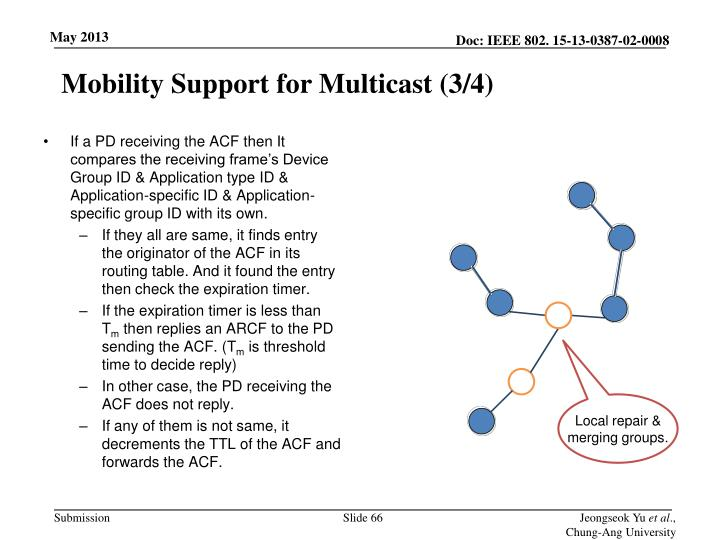 Mobility Support for