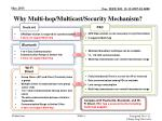 why multi hop multicast security mechanism