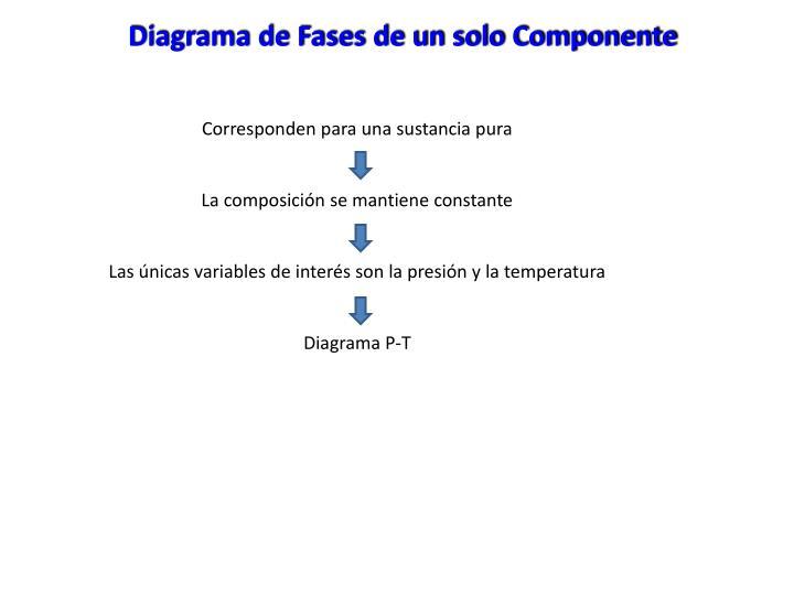 Diagrama de Fases de un solo Componente