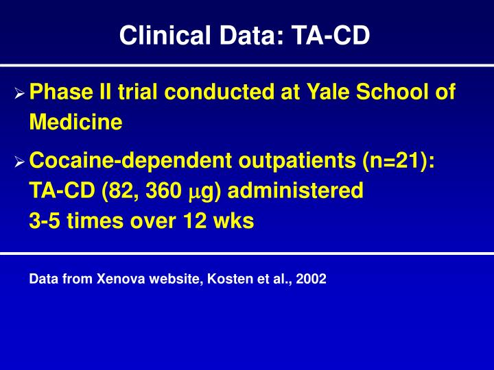 Clinical Data: TA-CD