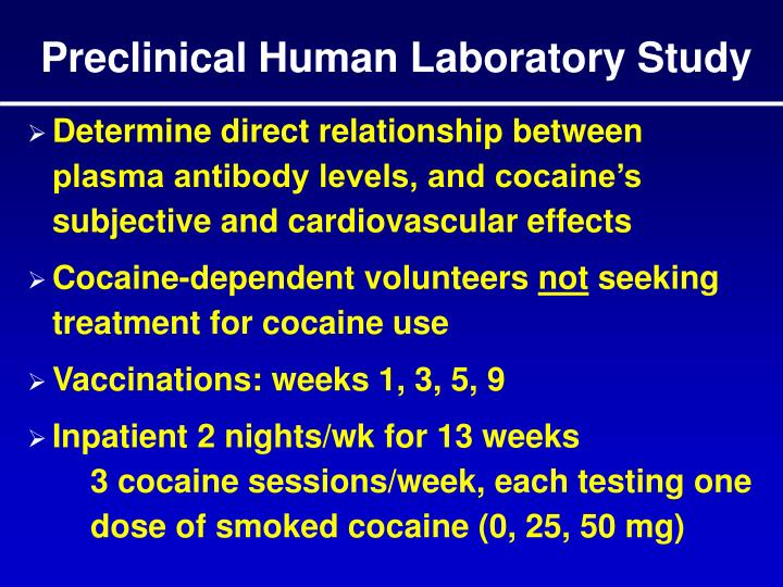 Preclinical Human Laboratory Study