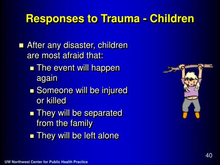 Responses to Trauma - Children