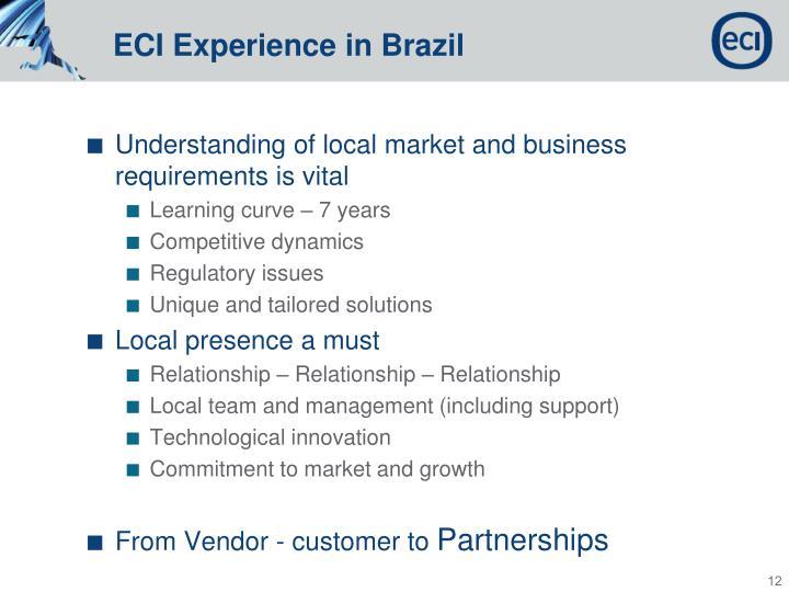 ECI Experience in Brazil