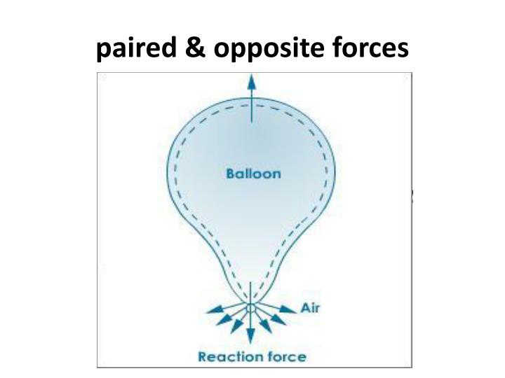 paired & opposite forces