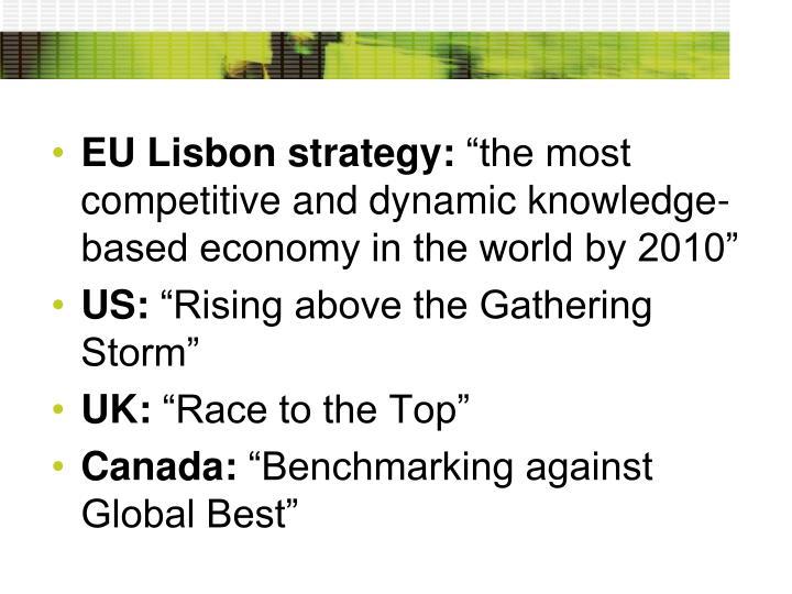 EU Lisbon strategy: