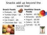 snacks add up beyond the waist line