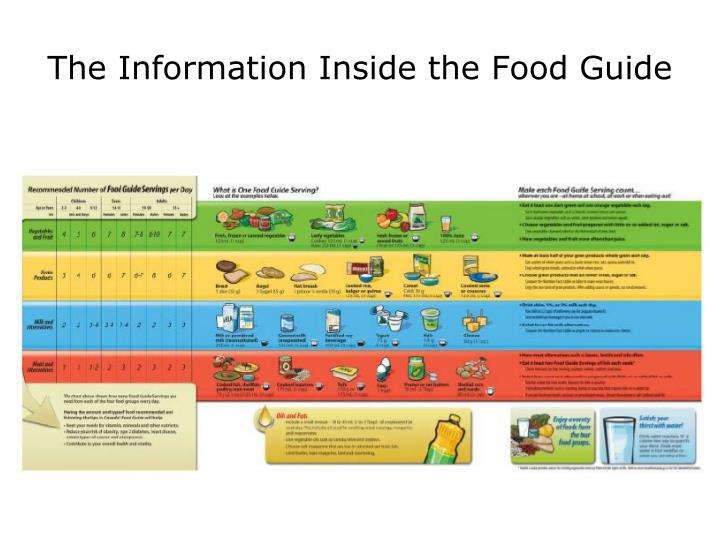 The Information Inside the Food Guide