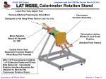 lat mgse calorimeter rotation stand
