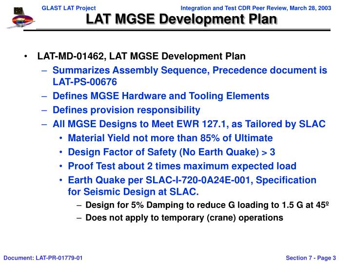 LAT MGSE Development Plan