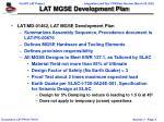 lat mgse development plan