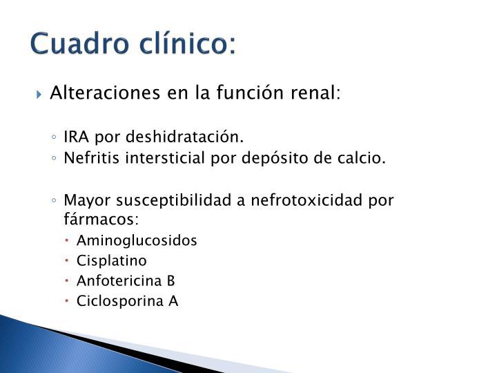 Cuadro clínico: