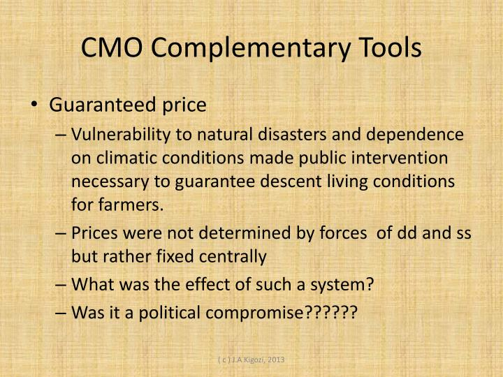 CMO Complementary Tools