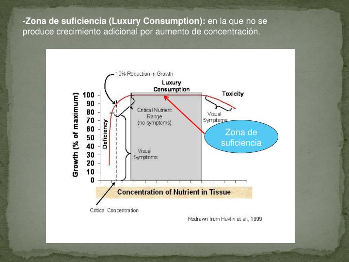 -Zona de suficiencia (Luxury Consumption):